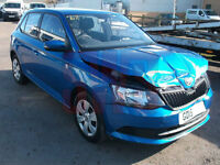 2015 Skoda Fabia S MPi 1.0 DAMAGED REPAIRABLE SALVAGE