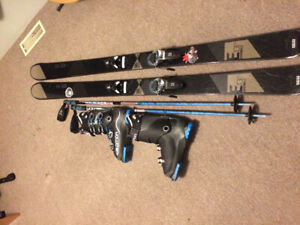 rossignol experience skiis W/bindings, boots and poles