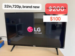 new LG TV, 32in, 720p, and Dynex Tv, $100