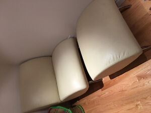 2x chair with ottoman