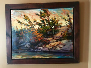 GORGEOUS 24x30 Framed Original Oil Painting by artist Pei Yang