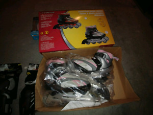 Avigo In line girls skates with elbow and knee pads