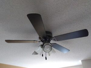 Modern Ceiling Fan with 3 Lights (CFL bulbs included)