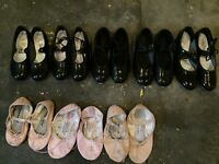 TAP SHOES AND BALLET SHOES