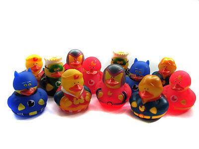 Superhero Rubber Ducks x12 Super Hero Action Party Bag
