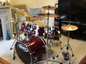 MAPEX M 7 PC. DRUM SET - DRUMS / HARDWARE / CYMBALS / THRONE