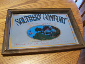 Vintage Southern Comfort Bar Mirror 13 by 9