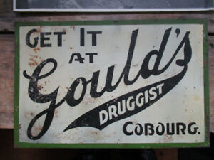 Tin Sign -Unusual,  double-sided, probably one of
