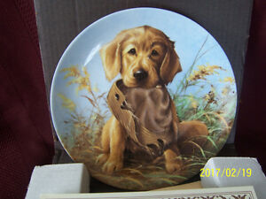 GOLDEN RETRIEVER ~ 1987 Knowles Collector Plate
