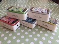 Apple IPhone 5c brand new condition box 8GB unlocked Warranty & Shop Receipt