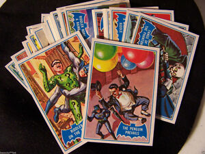 1989 REISSUE 1966 BATMAN BLUE BAT 44 CARD SET