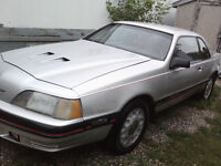 1988 T-Bird Turbo Coupe & 87 Parts car
