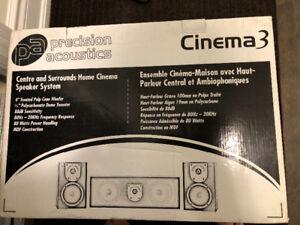 NEW IN BOX Precision Acoustics Cinema 3 Speaker System