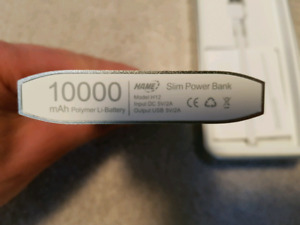 Non used power bank battery 10000 mamp