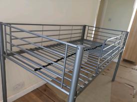 Single metal mid sleeper bed