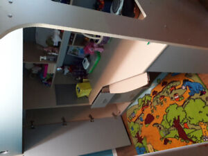Bunker bed with desk and closet for kids. Excellent cond. $450.0