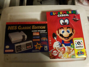 Brand New Authentic Nintendo NES Classic with US Mario Cereal