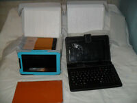 "brand new fully loaded 7"" tablet/phone +folding keyboard case +"