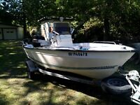2005 16ft Key Largo boat,trailer, and 2014 motor for sale