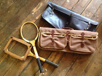 Two Sets Of Vintage Tennis Rackets