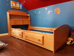 Wooden Single Bed Frame (Real wood)