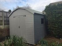 10ft x 8ft shed Dutch barn style