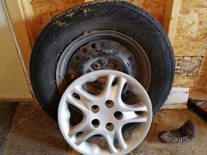 Two free tires with rims