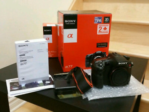 Sony alpha A77 SLT digital camera + 18-135mm Lens