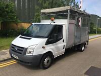 2011 Ford TRANSIT 2.4TDCi 115PS 350 LWB Cage Caged Tail Lift Dropside Truck with