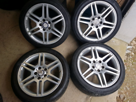 "17"" MERCEDES ALLOY WHEELS"