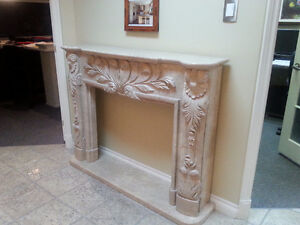 Carved Hearth Fireplace Mantle