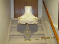 CRYSTAL LAMP WITH VINTAGE SHADE
