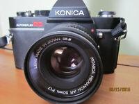 35mm Konica SLR camera