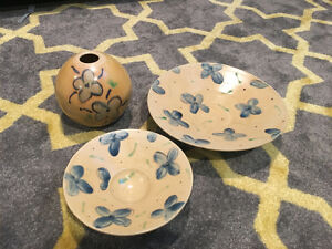 Three Pottery Pieces