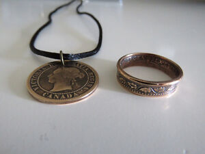 Rings and necklaces from antique coins Belleville Belleville Area image 1