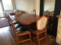 Dining table with 6 chairs £250 ONO