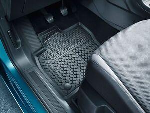 Gummi Fußmatten Original VW Touran II 2015 MQB Gummimatten Schwarz vorn 2-teilig
