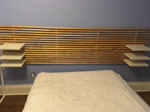 IKEA MANDAL bed with storage and headboard