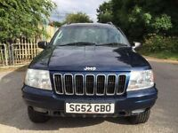 JEEP GRAND CHEROKEE 2.7 DIESEL AUTOMATIC   LOW MILEAGE   ONE YEAR MOT  