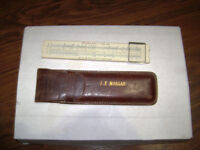 ANTIQUE 1762 Hughes-Owens slide rule with Leather Case