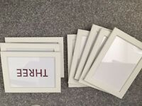 8 simple 5x7 white picture frames
