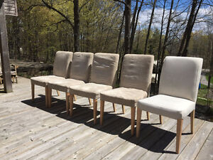 IKEA HENDRIKSDAL Dining Chairs x5 with 2 Cover Sets