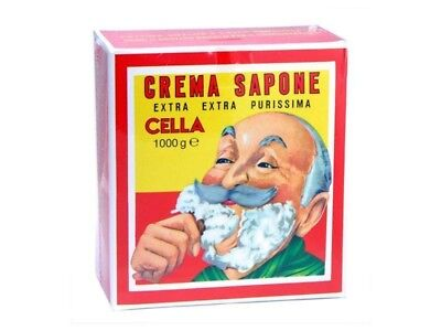Crema da Barba Cella in Ciotola all' olio di Mandorla 1000g Sapone