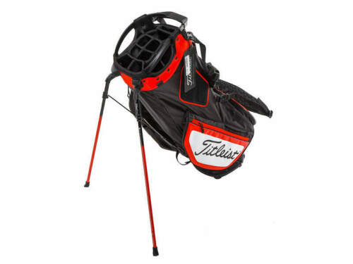 """Brand New Titleist Hybrid 14 Black/Red/White Stand Bag. """"Trial Bag"""" Embroidery"""