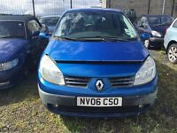 2006 1.6 Petrol Renault Megane Scienic. Breaking for parts only. Postage nationwide