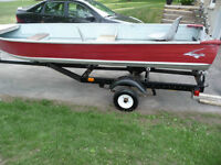 Nice 14 FT ALUMINUM BOAT AND TRAILER