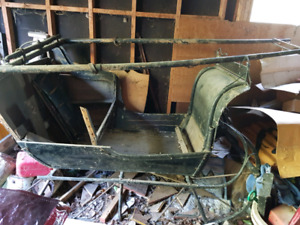 Horse Sleigh 1906 McLaughlin in need of restoration