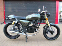 BULLIT MOTORCYCLES SPIRIT 125 CAFE RACER BRAND NEW 2 YEAR WARRANTY FINANCE