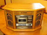 Radio record player cassettes cd also