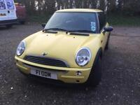 Mini 1.6 CVT One Automatic *Full leather* Yellow 83,000 miles only!